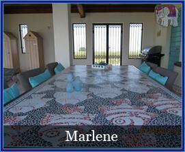 Mozaiek werkjes gemaakt door klanten